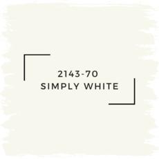 Benjamin Moore 2143-70  Simply White