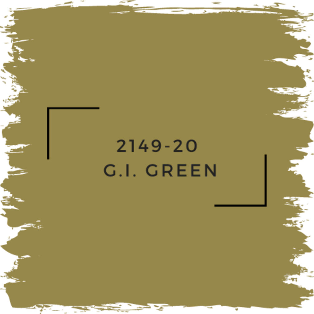 Benjamin Moore 2149-20  G.I. Green