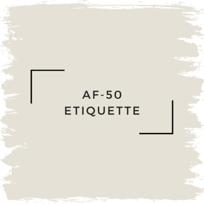 Benjamin Moore AF-50 Etiquette