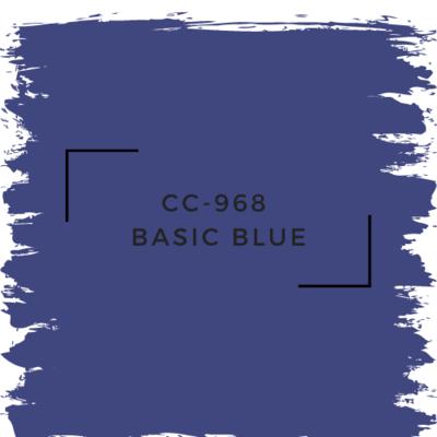 Benjamin Moore CC-968  Basic Blue