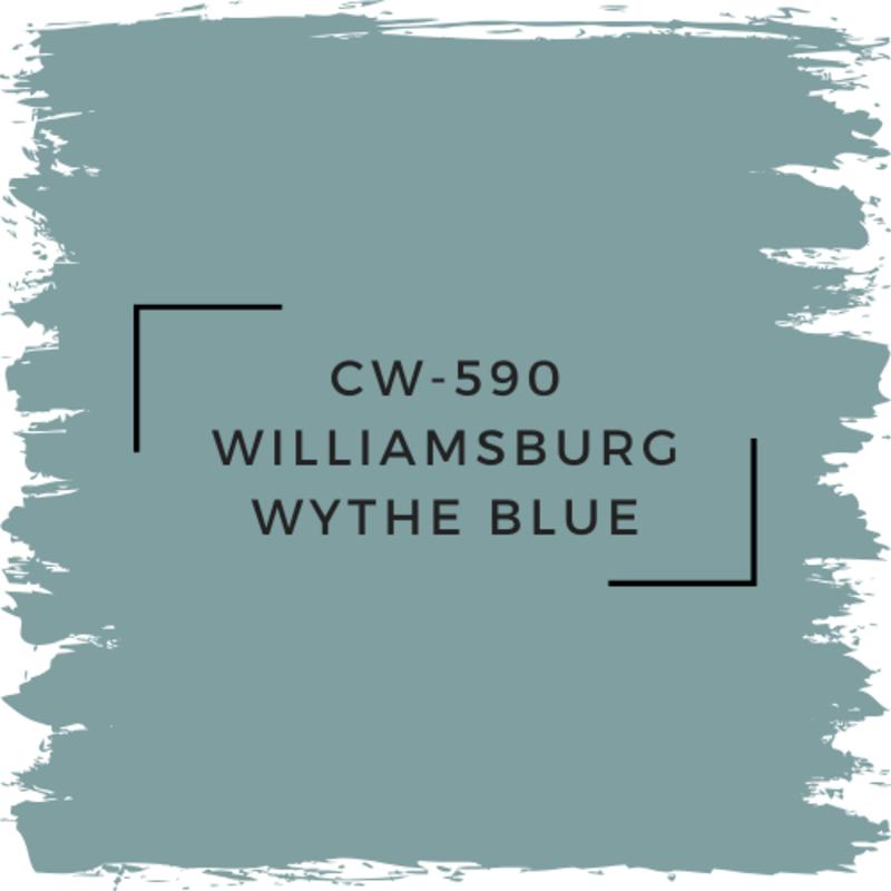 Benjamin Moore CW-590 Williamsburg Wythe Blue