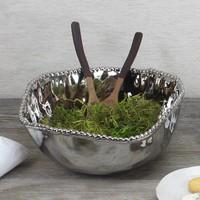 Pampa Bay Titanium Porcelain Large Salad Bowl