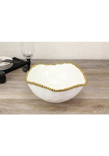 BARBAGALLO Pampa Bay Golden Salerno Porcelain Large Salad Bowl