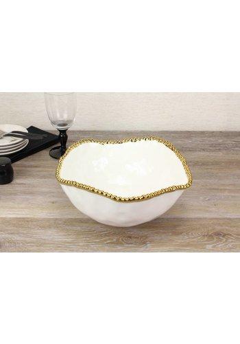 PAMPA BAY Pampa Bay Golden Salerno Porcelain Large Salad Bowl