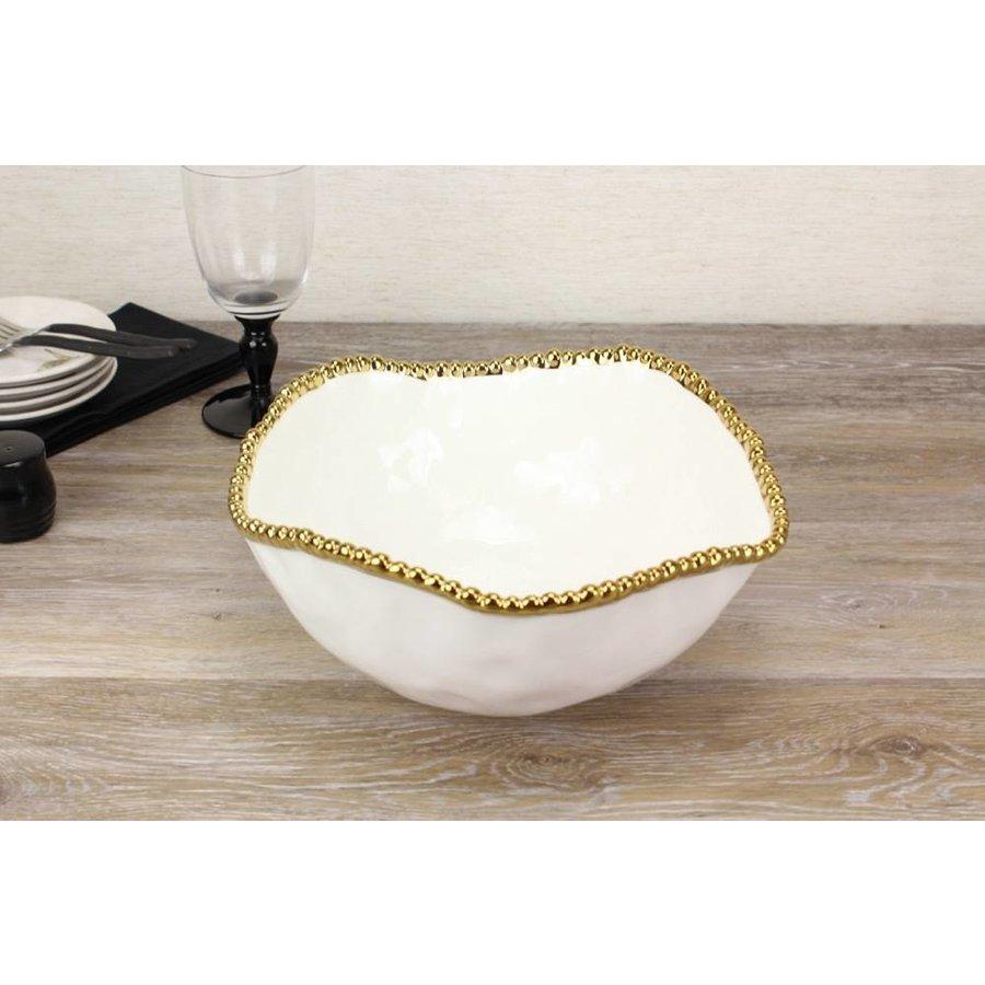 Pampa Bay Golden Salerno Porcelain Large Salad Bowl