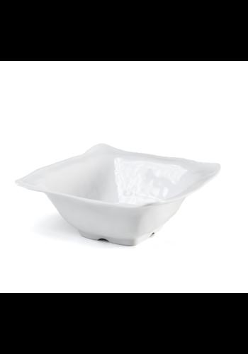 Q Squared Ruffle Melamine Square Serving Bowl 12.5″