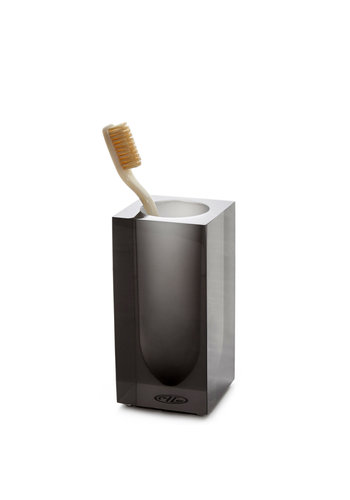 JONATHAN ADLER Hollywood Toothbrush Holder in Smoke