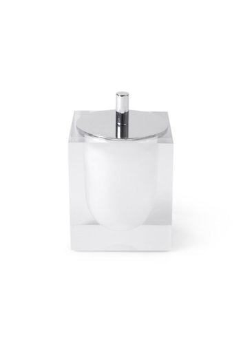 JONATHAN ADLER Hollywood Canister in White/Clear