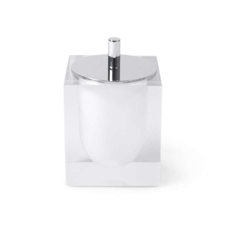 Hollywood Canister in White/Clear