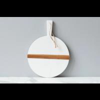 White Round Mod Charcuterie Board, Small