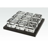 Tizo Acrylic Tic Tac Toe - Black Tray