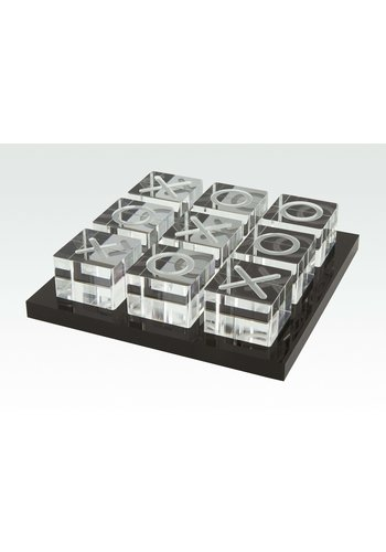 TIZO DESIGN Tizo Acrylic Tic Tac Toe - Black Tray