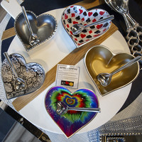 Groovy Heart Bowl with Spoon