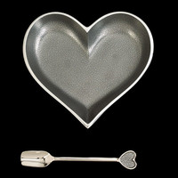 Happy Silver Heart with Spoon