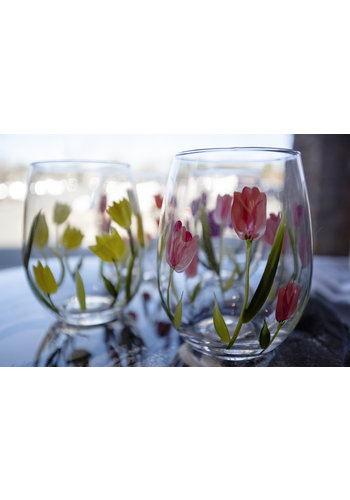 TWO'S COMPANY Tulip Glasses (Set of 4)