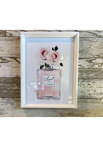 Wall Art - Perfume Bottle Dusty Rose 12x16
