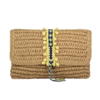 Reese Straw Clutch - Lemon