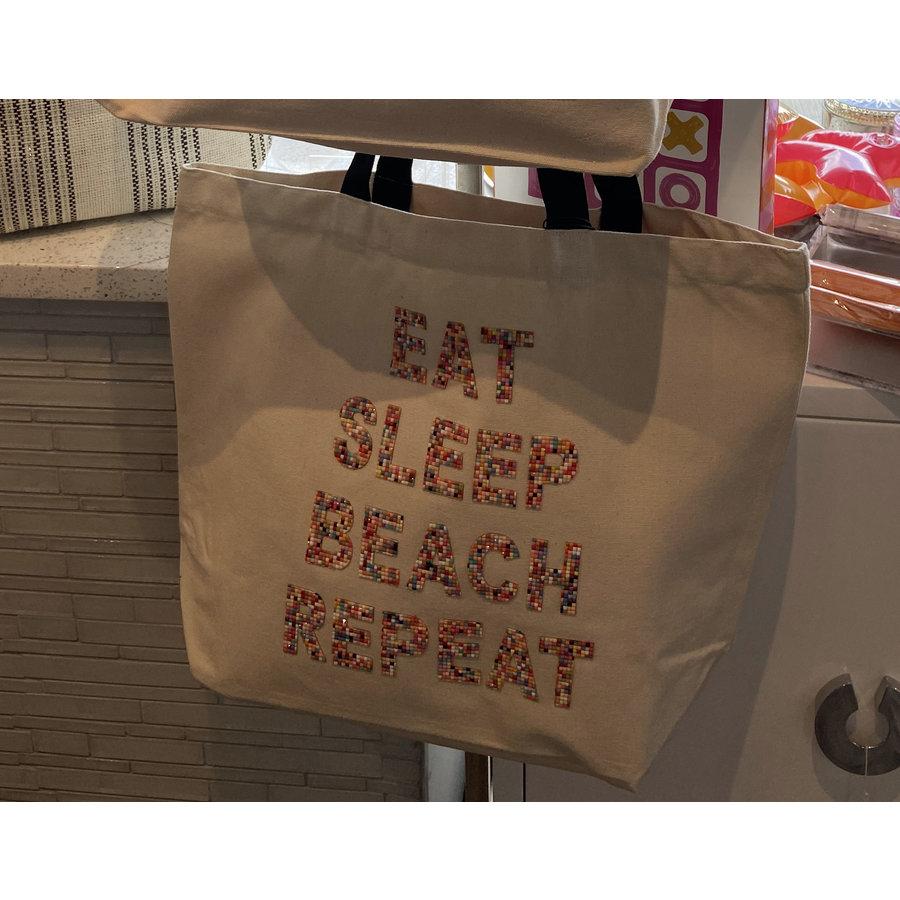 Eat Sleep Beach Repeat Crystal Tote