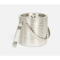 Clare Barware - Matte Nickel Ice Bucket w/Tongs
