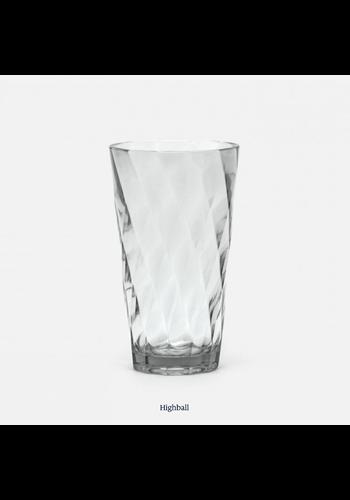 BLUE PHEASANT Beverly Light Gray Highball Glass