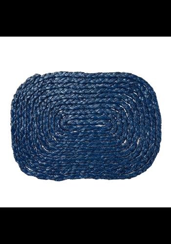 BLUE PHEASANT Gabriel Rectangle Navy Placemats Set/4