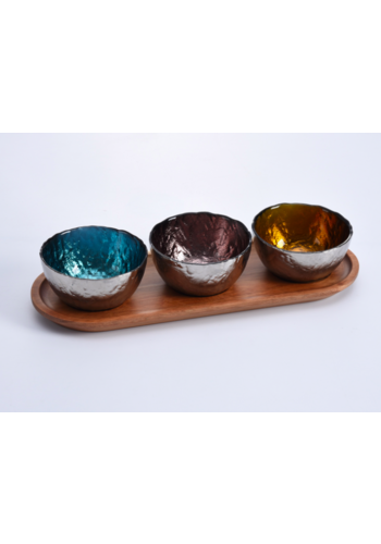 PAMPA BAY Colored Glass Bowls & Tray