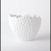 GLOBAL VIEWS Random Grid Vase Matte White