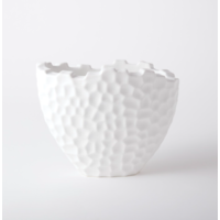 Random Grid Vase Matte White