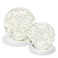 Bubble Clear Paperweights