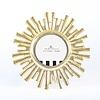 8 OAK LANE/SHADE CRITTERS   Gold Starburst Round Picture Frame