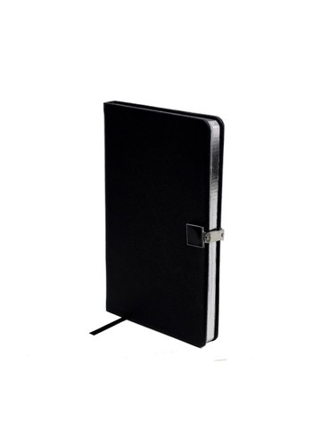 ADDISON ROSS Black & Silver A5 Notebook