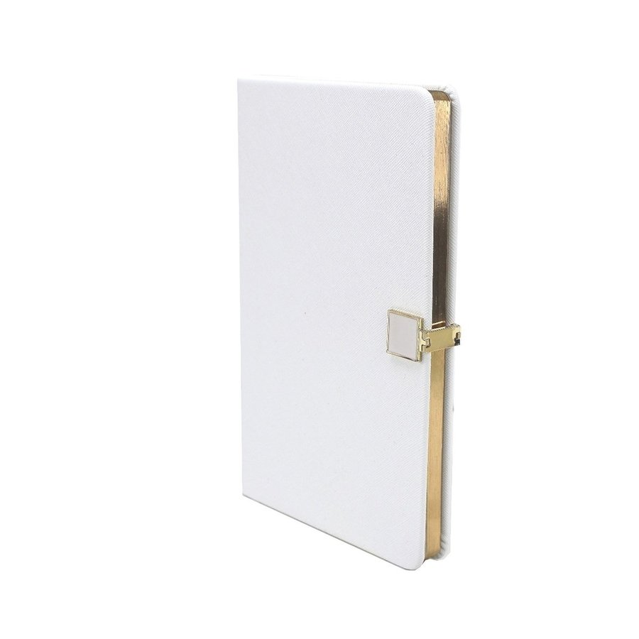 White & Gold A5 Notebook