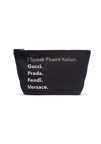 LA TRADING CO I Speak Fluent Italian Pouch
