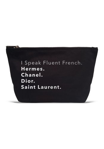 LA TRADING CO I Speak Fluent French Pouch