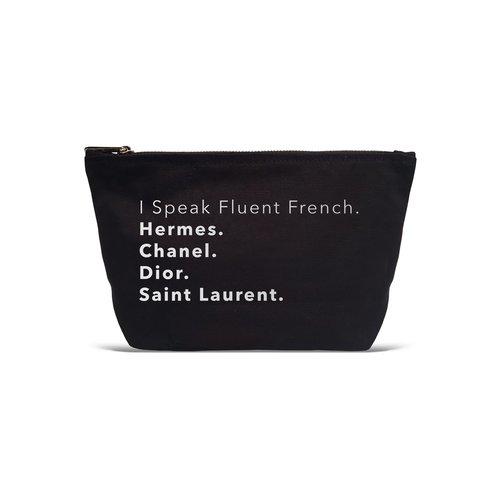 LA TRADING CO I Speak Fluent French Pouch