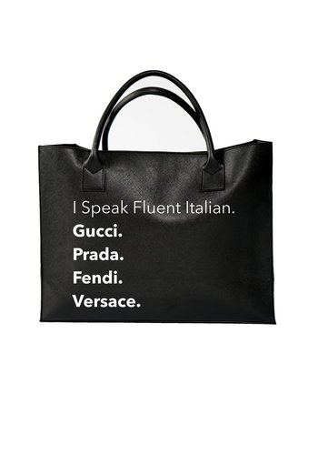 LA TRADING CO I Speak Fluent Italian Tote