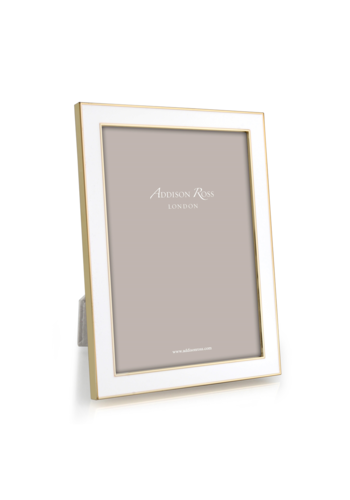 ADDISON ROSS 8x10 White Enamel & Gold Frame