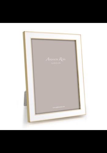 ADDISON ROSS 5x7 White Enamel & Gold Frame