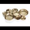ZODAX Cluster of Nine Gold Serving Bowls
