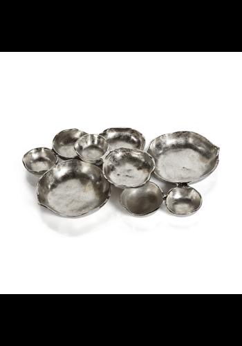 ZODAX Cluster of Nine Nickel Serving Bowls