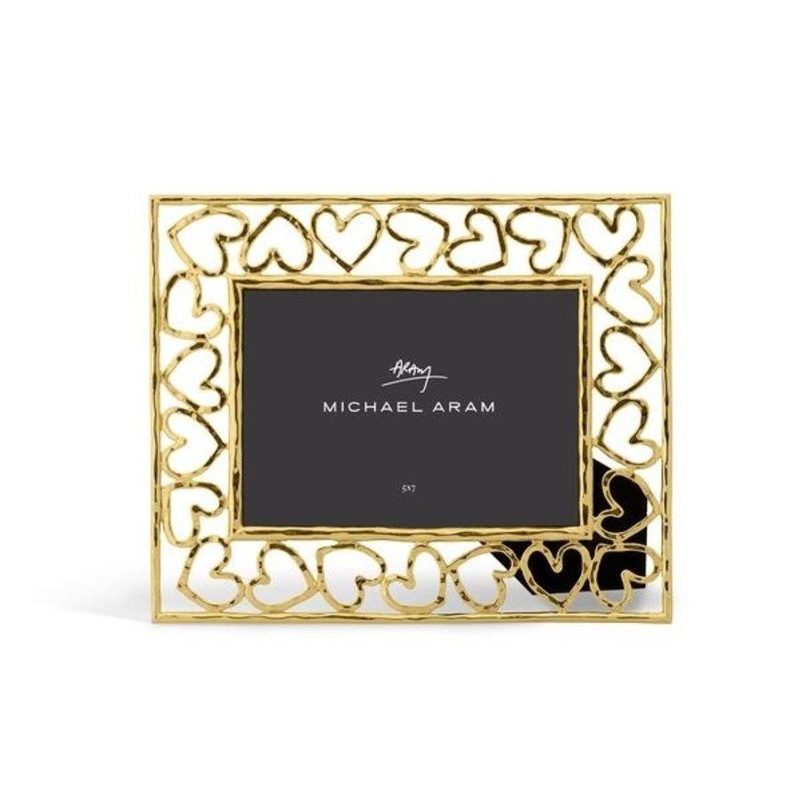 Gold Heart Frame 5x7