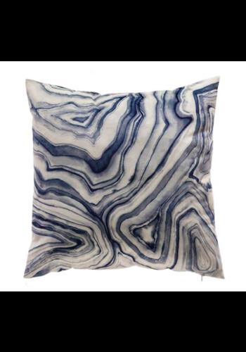 CLOUD9 DESIGN Arles Blue Velvet Pillow