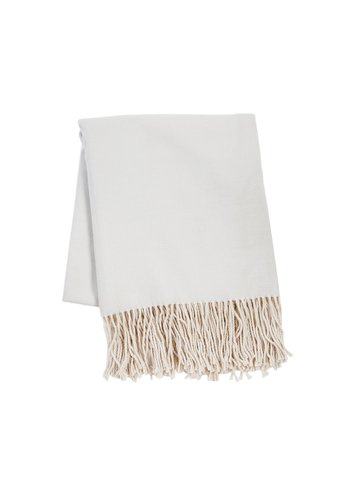 POM POM Mogan Throw - Light Gray