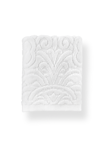 PEACOCK ALLEY Park Avenue Hand Towel- White