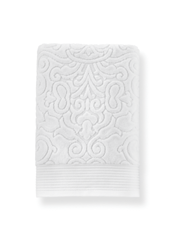 PEACOCK ALLEY Park Avenue Bath Towel - White