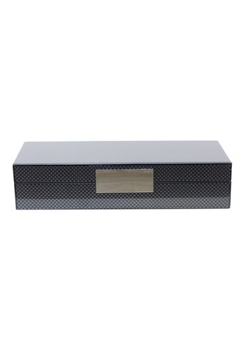ADDISON ROSS Carbon Fibre Lacquer Box w/ Silver
