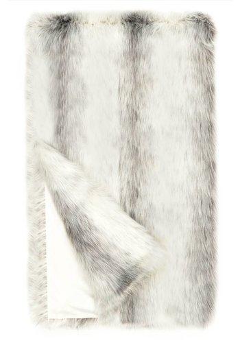 DONNA SALYERS FABULOUS FURS Icelandic Fox Faux Fur Throw