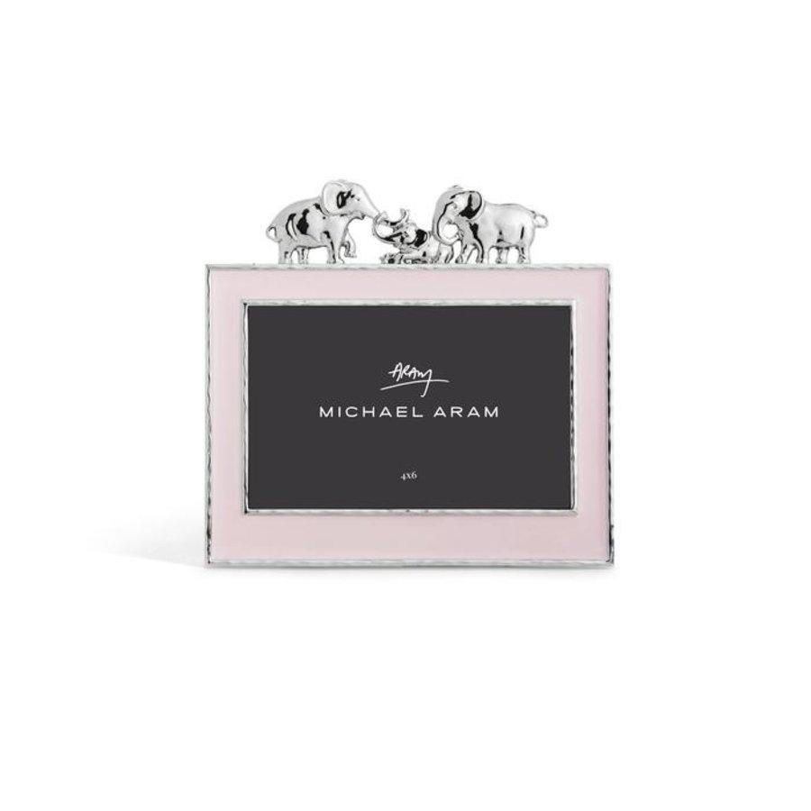 Elephant Frame Pink Enamel 4x6