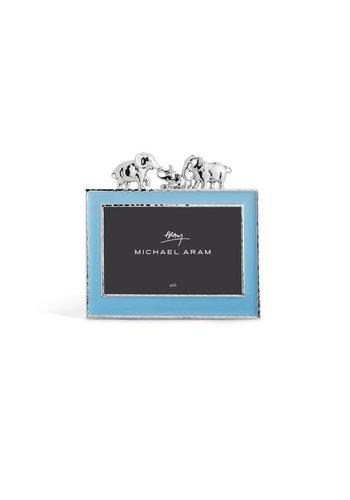 MICHAEL ARAM Elephant Frame Blue Enamel 4x6