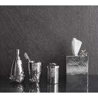WHITE ORCHID TISSUE BOX HOLDER / 111852